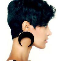 1 pair Women Acrylic Resin Moon Earring Boho Dangle Drop Stud Earring