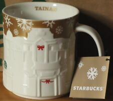 Starbucks Christmas Relief Mug Tainan gold, 16 oz neu mit SKU, Rarität, HTF