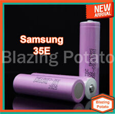 2 Samsung 35E 18650 Rechargeable 3500mAh 8A Button Top Batteries w/ FREE CASE