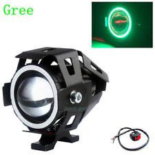 Motorcycle Headlight Spotlight+Switch LED Fog Green for Angel Eyes Light 125W