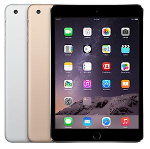 Apple iPad Mini 3 Wi-Fi + Cellular -16GB 64GB 128GB - Space Gray - Gold - Silver