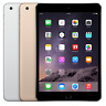 Apple iPad Mini 3 Wi-Fi + Cellular -16GB 64GB 128GB - Space Gray - Gold - Silver