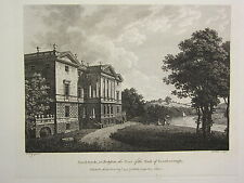 1779 DATED PRINT ~ SAND-BECK YORKSHIRE ~ SEAT OF THE EARL OF SCARBOROUGH