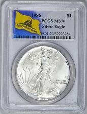 1986 SILVER EAGLE PCGS MS70 KEY DATE NO TONING OR SPOTS