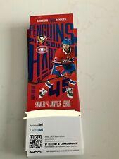 unused season hockey tickets Montreal Canadiens jan4