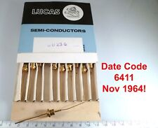 Lucas DD236 Vintage Silicon Rectifier Diode Gold Plated Date Code 6411 LMBL5-25