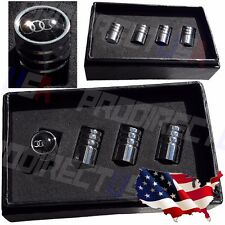 AUDI Logo Valve Stems Caps Covers Chromed Roundel Emblem Wheel Tires Tyre *USA*