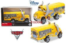 Disney Store Cars 3 Die Cast Deluxe Miss Fritter Yellow School Bus 1:43 NEW