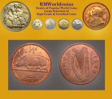 Ireland 1946 Half Penny, Rare CHUnc, Red/Brn, Sharp Detail, Key Date, Low Mtg