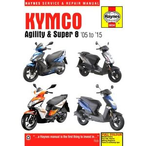 Haynes Repair Manual Kymco Agility & Super 8 Scooters (05 - 15) For Kymco
