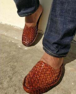 Leather Handmade Kolhapuri Sandal Mens Hippie Indian Buffalo Jesus Sandals 100%