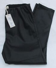 LADIES MARKS AND SPENCER BLACK LEATHER LOOK  PULL ON TROUSERS SIZE 16