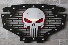 Custom Part Steel Grille Stainless PUNISHER Emblem Grill Polaris RZR 800/900 RED