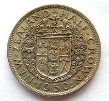 1950 New Zealand Half Crown Coin KM#19   SB5203