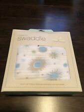 "NEW IN BOX Aden + Anais Cosmos Pre-Washed Organic Cotton Muslin Swaddle 47""X47"""