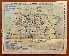1925 Paris Metro Subway Map * Paramount Pictures * New York Herald