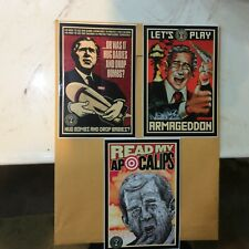 Vintage Shepard Fairey Obey Stickers Mear Robbie Conal