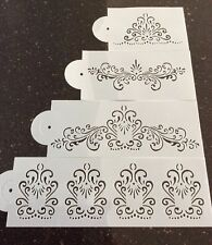 4 Pack Cake Stencil Set For Cake Decorating