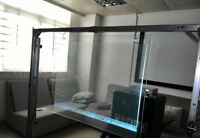 Transparent 3D Rear Holographic Projection Screen Window Film 2m/5m