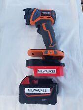Milwaukee M18 Fuel battery Adapter to AEG/Ridgid powertools