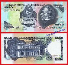 URUGUAY 50 Nuevos pesos 1988-1989 Pick 61A  SC / UNC