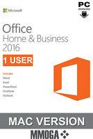 Microsoft Office 2016 Home and Business (1 Nutzer) - MAC Version - DE/EU