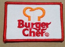original Burger Chef Employee Patch Late 1970/early 1980's FREE SHIPPING INV B08