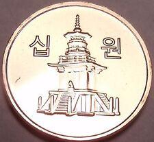 Gem Brilliant Unc South Korea 2014 10 Won~Pagoda at Pul Guk Temple~Free Shipping