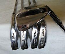 WILSON X/31 set of irons: 6,7,8,9,PW, Power Groove steel shafts Wilson grips RH