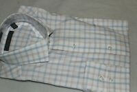 Tommy Hilfiger Men's Cotton Pink Blue Plaid Dress Shirt NWT Size 16-16.5 32/33
