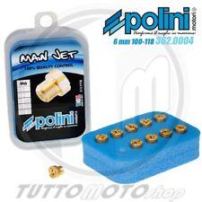 SET POLINI 10 GETTI MASSIMO 6 mm CARBURATORE DELL'ORTO DAL 100 AL 118 (incr.2)