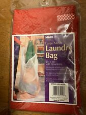 "MAINSTAYS LARGE MESH LAUNDRY BAG RED 24"" X 36"" DRAWSTRING"