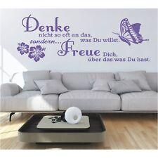 Wandtattoo Spruch  Denke willst was Du hast Wandsticker Wandaufkleber Sticker 2