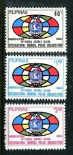 Philippines 1495-1497,MNH.Michel 1384-1386. General Assembly of INTERPOL.1980.