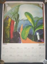 MANOLIS CHAROS GREEK ARTIST LISTED CALENDAR 2014 WITH PRINT VIEW TO THE ISLAND