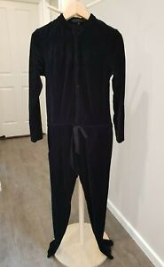 Designer   Size 8   Sally Philips   Carnaby Jumpsuit   Black Velour