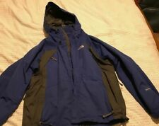 Men's The North Face HyVent Blue Zip-Up Hooded Light Weight Jacket Large