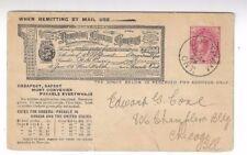 1899 Chatham Ontario Canada, Advertising 1c Postal Card Dominion Express Company