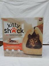 2 In 1 Kitty Shack Self Heating Cat/Kitty Portable Hot Bed And Mat Tunnel Bed