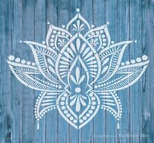 Stencil Mylar re-usable shabby chic  LOTUS MANDALA 310 x 280mm