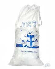 Alpine Industries 10 & 20 lb Commercial Ice Bag Bags w/ Cotton Drawstring