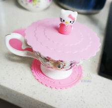 Cute Hello Kitty Pink 2 pcs Cup Coaster + One Cute Cup Lid