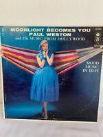 Moonlight Becomes You Paul Weston LP CL909 Mood Music In Hi-Fi Vintage