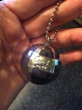 Coach Poppy Sequin Silver Disco Ball Key Chain Fob Spinner Clip Hangtag HTF