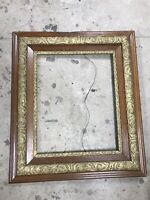 "GORGEOUS ORNATE ANTIQUE OAK WOOD GOLD GESSO FRAME 29.5""x 25.5"" Victorian"