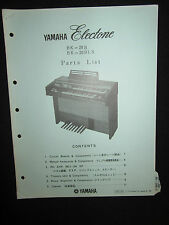 Yamaha Electone Electric Organ BK-20B BK-20BI.S Part List Manual Keyboard BK20B