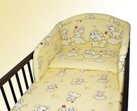 NEW COT BUMPER FOR NURSERY BABY BEDDING SET COLOURFUL DESIGNS 120x60 140x70 UK