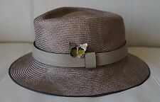 Louis Vuitton Taiga Leather Straw Hat - Runway Limited Edition