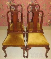 Ethan Allen Georgian Court Set of 4 Cherry Queen Anne Side Chairs 11 6211