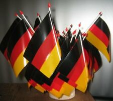 4 x Deutschland Fähnchen Fahne 10 x 15 cm Fussball Event Deko